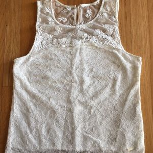 NWOT gilly Hicks white floral lace tank top